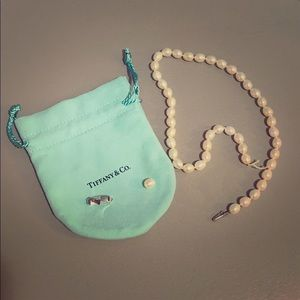 Tiffany & Co. Oval Pearl Necklace - Needs …